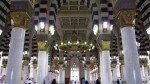Muslims walk in Al-Masjid al-Nabawi, before the afternoon prayer in the holy city of Medina